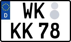 amtliches Eurokennzeichen Wittstock/Dosse
