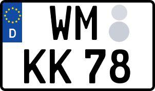 amtliches Eurokennzeichen Weilheim in Oberbayern