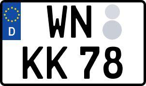 Die besten Wunsch-Kennzeichen in Waiblingen