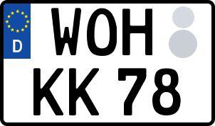 amtliches Eurokennzeichen Wolfhagen