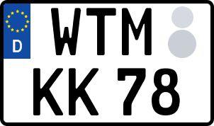 Vorgang zum Wunschkennzeichen in Wittmund