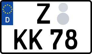 amtliches Eurokennzeichen Zwickau