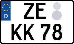 amtliches Eurokennzeichen Zerbst/Anhalt