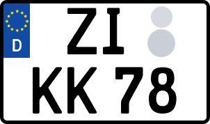 amtliches Eurokennzeichen Zittau