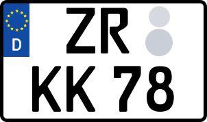 amtliches Eurokennzeichen Zeulenroda