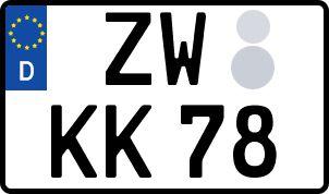 amtliches Eurokennzeichen Zweibrücken